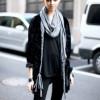 Как носить платок с пальто (16 фото)