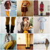 Сочетание горчичного цвета в одежде