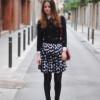 С чем носить юбку в горошек: обзор + фото