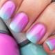 Как накрасить ногти с переходом цвета