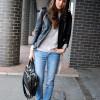 С чем носить кожаный пиджак и какой стиль выбрать? 40 фото