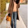 С чем носить коричневое пальто: модные тенденции (30 фото)