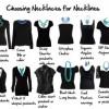 Выбор украшения под вырез платья
