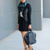 Как носить платки и палантины с курткой
