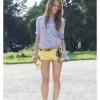 Модные рекомендации: с чем носить желтые шорты