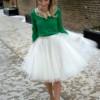 Модная провокация: с чем носить фатиновую юбку