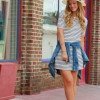 С чем носить полосатое платье: модный look на любой вкус