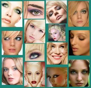 Повседневный макияж глаз для блондинок