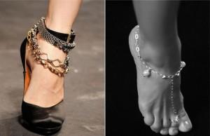 На какой ноге носят браслет