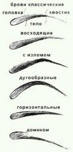 Правильная форма бровей