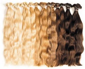 наращивание волос капсулами