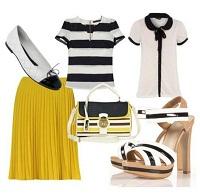 С чем носить желтое