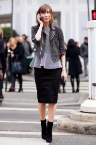 с чем носить черную юбку фото