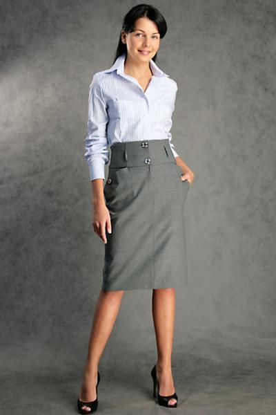 С чем носить юбку карандаш серого цвета