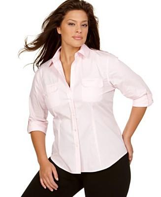 Блузки рубашки женские для полных