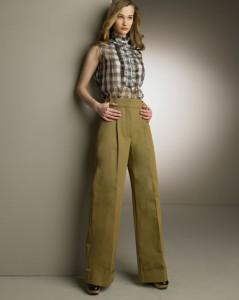 с чем носить брюки с высокой талией