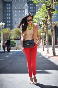 брюки красные фото