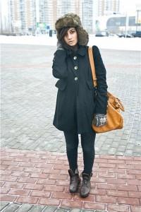Шапка под пальто