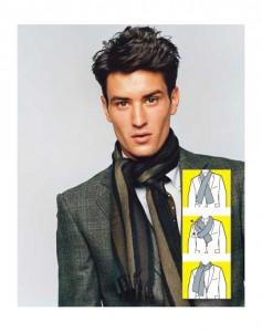 как завязывать мужские шарфы - аскот