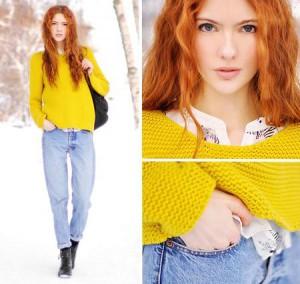 джинсы голубого цвета фото