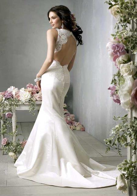 Платья для свадьбы 2012 с открытой