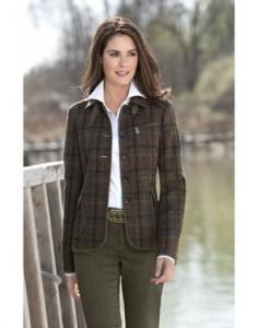 твидовый женский пиджак