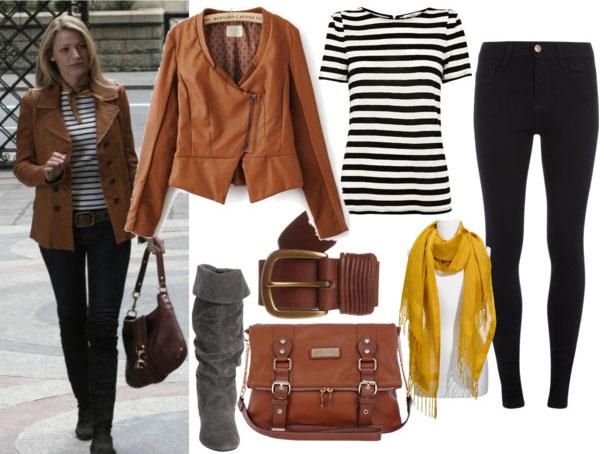 С чем носить коричневую кожаную куртку фото