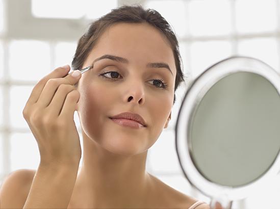 Правильно нанесенный макияж.