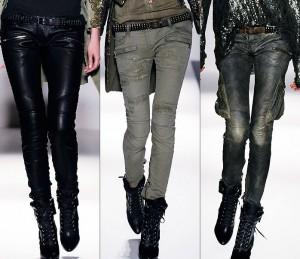 рокерские брюки дудочки