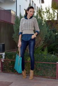 синие джинсы фото