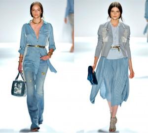 Одежда голубого цвет