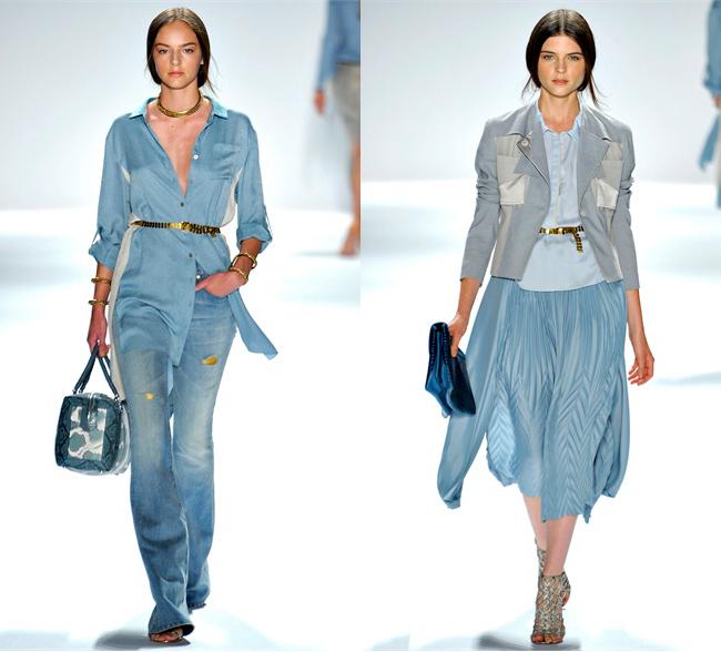 Умиротворение в одежде голубого цвета