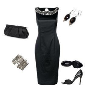 чем украсить черное платье