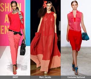 ярко красная одежда