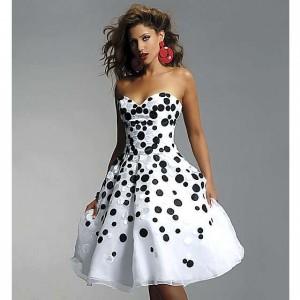 платье в черный горошек