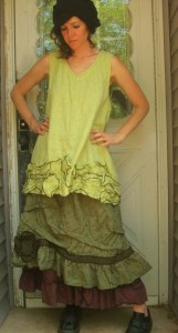 платья из льна 2012