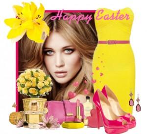 розовый с желтым