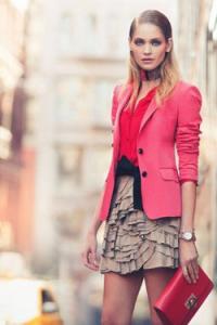 с чем надеть розовый пиджак