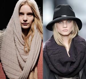 шарф-хомут с чем носить