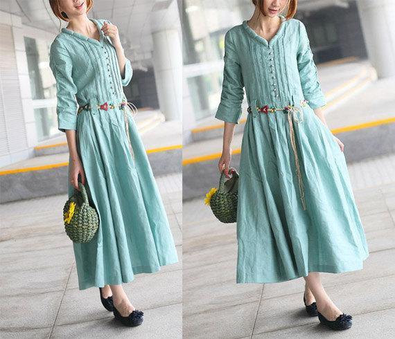 Льняные платья классические - Покажем