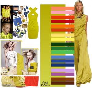 какой цвет сочетается с желтым