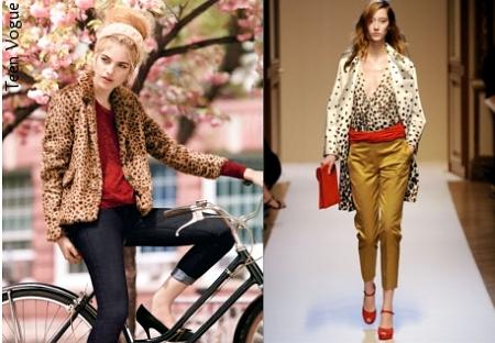 леопардовый и красный