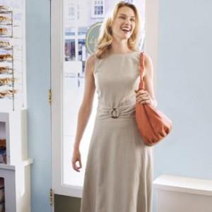 льняное платье 2012