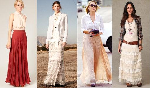 Как носить длинную расклешенную юбку