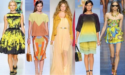 Яркая одежда с природными рисунками