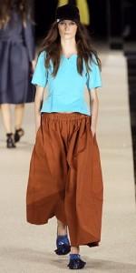С чем носить юбку брюки