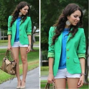 зеленый пиджак с чем носить