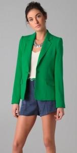 зеленый пиджак, сч ем носить