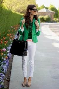 с чем носить зеленый пиджак?