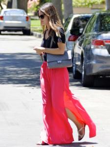 юбка длинная с разрезом